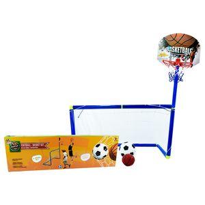 Cancha fútbol y basquetball. (Incluye 2 bolas e inflador)