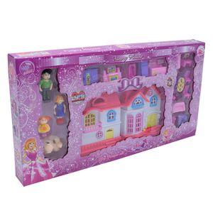 Casa con personajes y accesorios