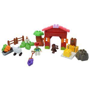 Bloques Preescolar Blox arma Finca incluye 25 piezas