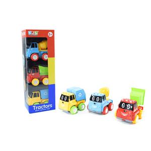 Set de carritos de construcción Preescolar x 3 und